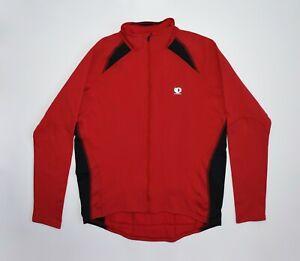Pearl Izumi Nylon Jacket Cycling Bicycle Jersey Bike Ride Long Sleeve Red Men XL