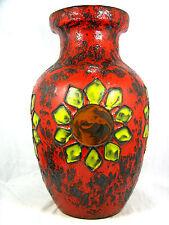"Beautiful 70´s ""Flower Power "" design SCHEURICH Keramik pottery vase 241 - 47"