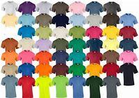 Gildan Mens Womens Ultra Cotton Plain Crew Neck T-Shirt 100% Cotton
