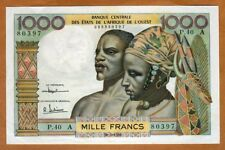 West African States, Ivory Coast, 1000 Francs, 1961 Sig. 2, P-103Ac, aUNC