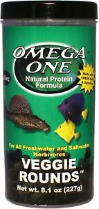 8.1 oz Omega One Sinking Veggie Rounds with FREE 12-Type Ultra Pellet Blend