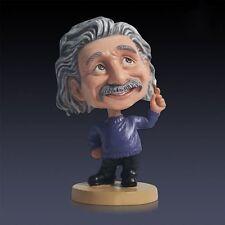Albert Einstein Bobble Head Resin Statue For Home Deco Gift New
