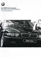 Bmw 7 7er e38 750 740 735 728 I il d folleto brochure lista de precios 1999 2000 43