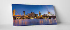 "Pittsburgh Night Skyline Gallery Wrapped Canvas Print. 30""x16"""