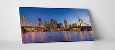 "Pittsburgh Night Skyline Gallery Wrapped Canvas Print. 45""x16"""
