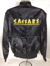 Caesars Tahoe XL Black Satin Jacket Made USA Casino Gambling Resort Hotel Palace