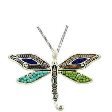 """with 24"""" Chain Fast Shipping Large Colorful Dragonfly Pendant Necklace"""