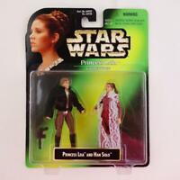 "Vintage 1997 Kenner Star Wars Princess Leia Collection Han Solo 3 1/2"" Figures"