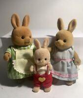 Vintage Maple Town Sylvanian Families Mrs Rabbit Rachel & Richy Orginal Clothes