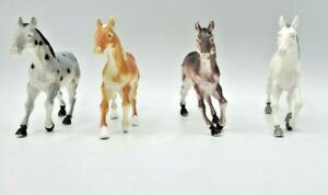 Lot of 4 Unbranded Horses Brown Tan White Black and Gray