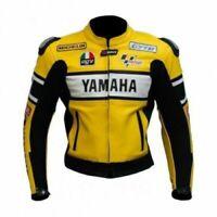 Yamaha Yellow Motorcycle Leather Street Racing Motorbike Jacket