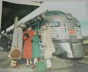 1953 New York Central advertisement, NYC E-7 Diesel Engine 4025