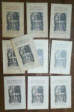 Jean RAY - John FLANDERS - lot de 10 Cahiers de la Biloque - 1954-1976