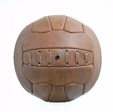 New Vintage Leather-look PU Mini Football size 1 ball Retro style 18 panel FT09