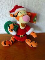 DISNEY - Christmas Tigger Plush - from Disneyland Paris - Rare Item - See Photos
