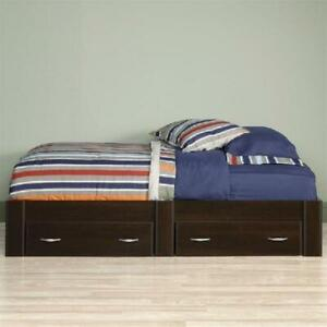 Twin Platform Wooden Bed With Storage Drawers,Kids Baby Bedroom Decor Furniture