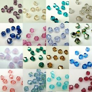 144 pcs x SWAROVSKI XILION CRYSTAL 5328 4mm Bicone Bead ~ Colour ~ Many Color #2
