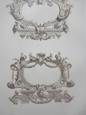 Motif détail MOULURE époque LOUIS XIV GRAVURE décoration ADAMS MEUBLE XIXéme