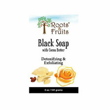 Roots & Fruits Bar Soap Black with Cocoa Butter & Orang