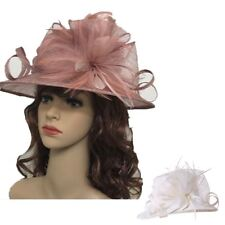 Ladies Large Elegant Sinamay Hat Fascinator Weddings Ladies Day Race Royal Ascot