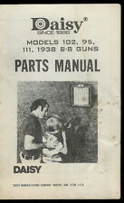 *Copy* Daisy Models 102 95 111 1938 BB Rifle Gun Illustrated Parts List Manual