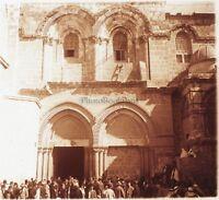 Gerusalemme Santo Sepolcro Terra Sainte Foto Placca Lente Stereo 1935