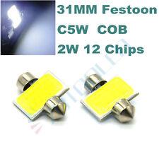6x White COB LED Festoon DE3175 Dome Light Glove Box Trunk Map Light for Acura