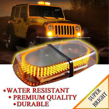 Zone Tech Emergency Vehicle Roof Top 240 LED Strobe Light Magnetic Base Amber