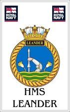 HMS Leander Royal Navy crested Fridge Magnet