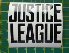 "Justice league vinyl sticker 6"" wide plus custom sizes also available in white"