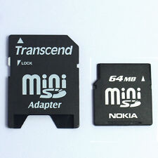 10 x 64MB MiniSD SD Memory Card with MiniSD Card Adapter