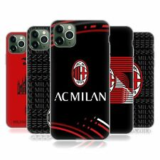 OFFICIAL AC MILAN CREST PATTERNS SOFT GEL CASE FOR APPLE iPHONE PHONES