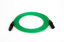 CANARE GREEN QUAD MICROPHONE MIC CABLE NEUTRCK XLR, 100 FT.
