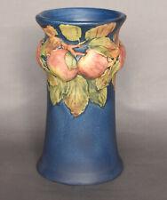"Large Gorgeous Blue Weller Baldin Apple 9 5/8"" Art Pottery Arts & Crafts Vase"