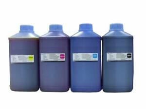 4X 1000ml Dye Refill Ink For Epson Refillable Cartridges CIS CISS B Y M C