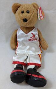 Ty Beanie Baby SHAQBEAR SHAQ Shaquille O'Neal Bear Plush Basketball IMPERFECT