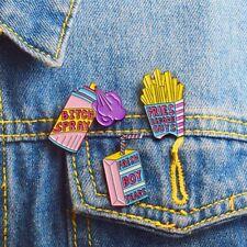 Chic Enamel Drink Spray Brooch Pin Denim Jacket Button Badge Jewelry Gift Hot