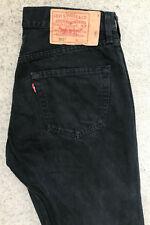 Levis 501 Denim Jeans! Homme W32/L30 Noir! coupe droite! Languette Rouge!