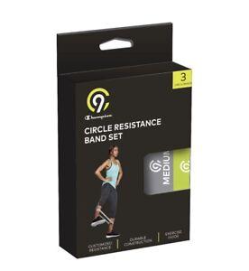 Exercise Round Resistance Band 3pk - Light, Medium and Heavy - C9 Champion