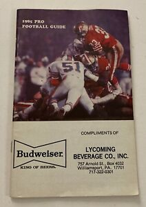 Vintage Budweiser 1985 FOOTBALL GUIDE From Lycoming Co. Beverage Co., Inc.
