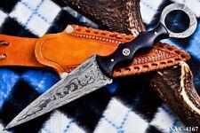 CUSTOM HANDMADE DAMASCUS STEEL FULL TANG DAGGER KNIFE NYC-4167
