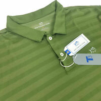 Southern Tide Polo Tide Trail T3 Short Sleeve Performance Shirt Striped Green