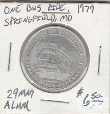 (H) Token - Springfield, Mo - 1979 - One Bus Ride - 29 Mm Aluminum