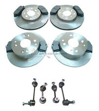 for HONDA ACCORD 98-02 FRONT & REAR BRAKE DISCS AND PADS & 4 ANTI ROLL BAR LINKS