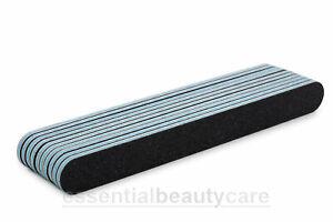 10 x Black Cushion Nail Files Grit- 100/180