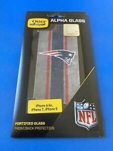 Otterbox NFL Alpha Glass Screen Protector—New England Patriots—iPhone 8/7/6s/6