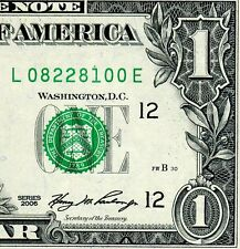 2006 $1 FRN (( Birthday Note )) August 22, 1981 Uncirculated # L08228100A