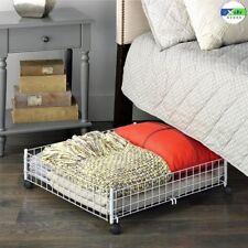 Under Bed Storage Rolling Cart Floor Drawer Container Bins Hidden Wheels Box NEW