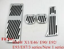Stainless Steel Car Pedals Cover For BMW X1 E46 E90 E92 E93 E87 New1/3 series MT