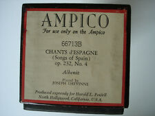 AMPICO PIANO ROLL 66713B CHANTS D'ESPAGNE OP. 232 #4 BY ALBENIZ